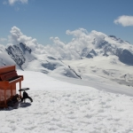 my piano in the Swiss snow